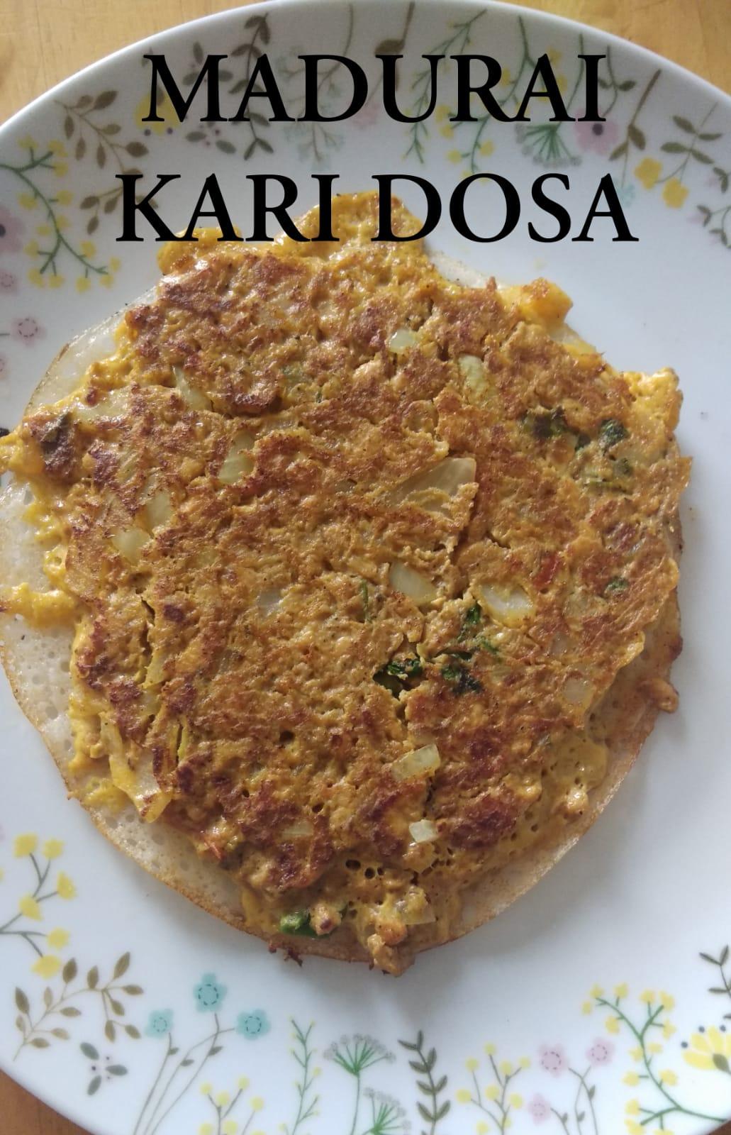 Madurai Kari Dosa | Chicken Kari Dosa