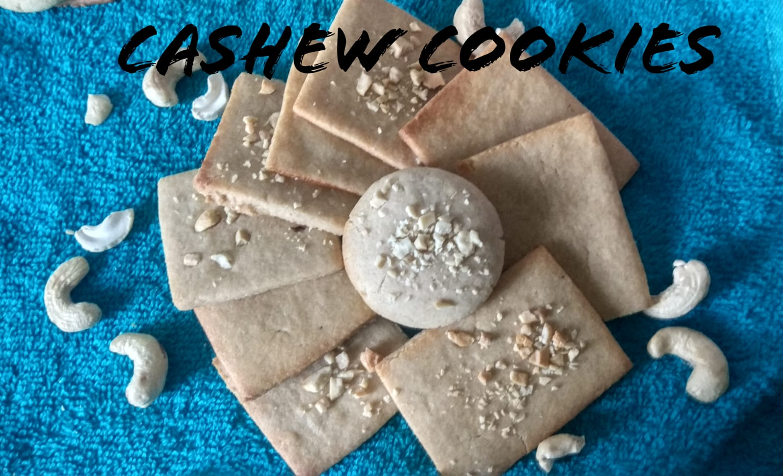 Cashew Cookies | Cashew butter biscuits
