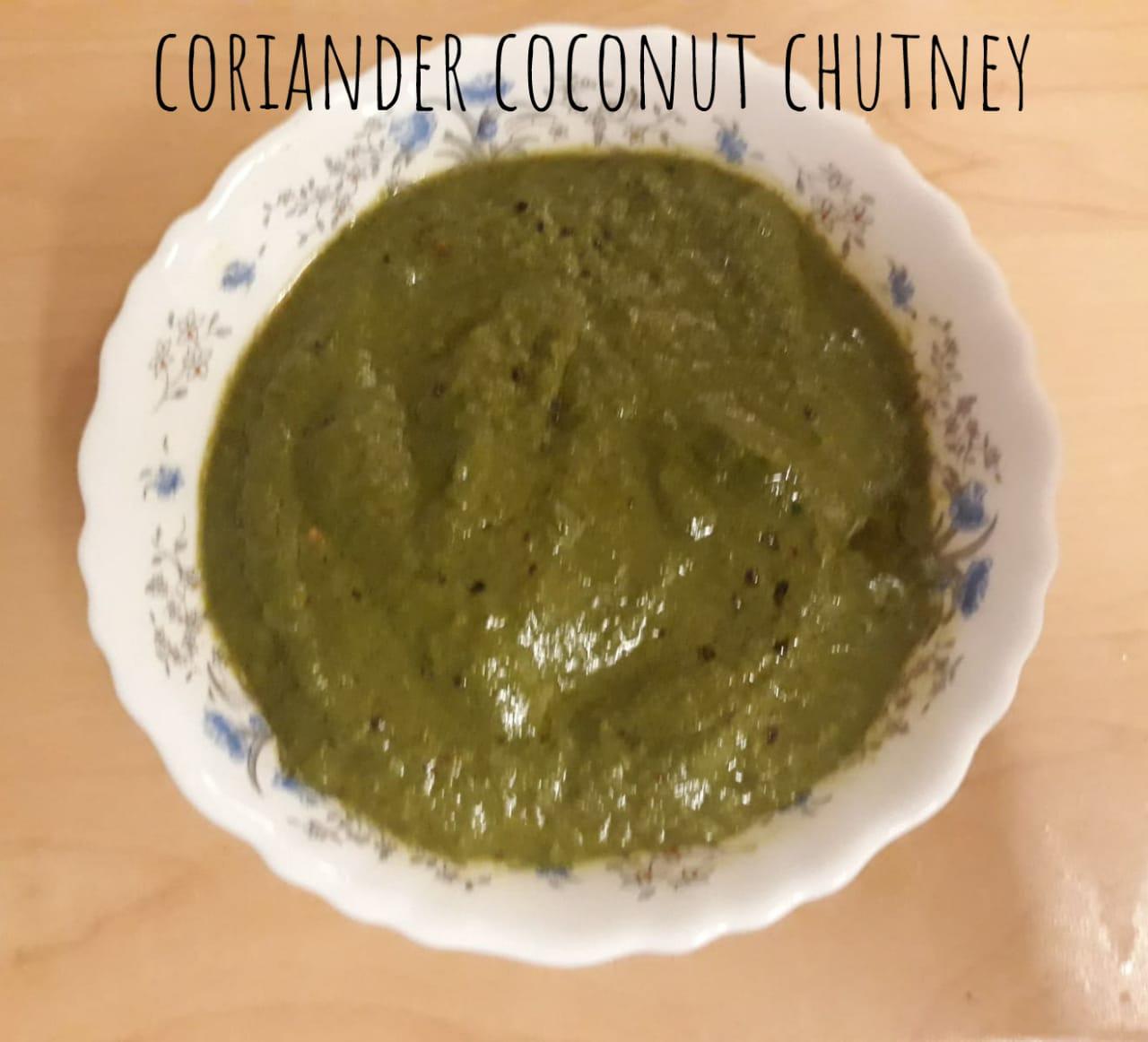 Coriander Coconut Chutney recipe | Fresh Coriander Chutney