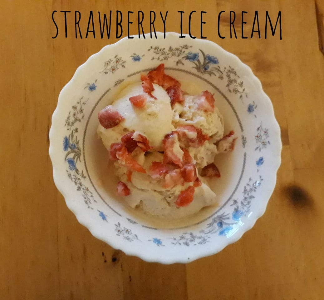 Strawberry Ice cream | No Churn Strawberry Ice cream Recipe
