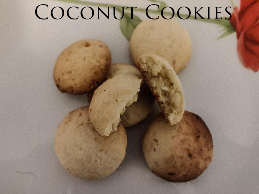 Coconut Cookies | Easy coconut cookies
