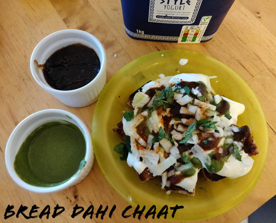 Bread Dahi Chaat | Easy and quick Bread Dahi Chaat