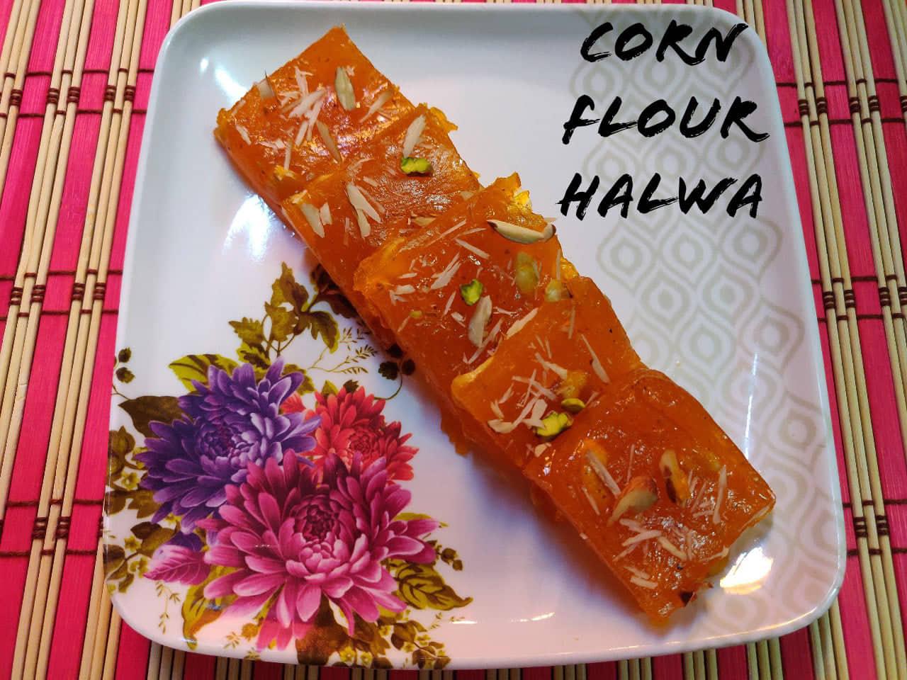 Corn Flour Halwa | Bombay Halwa | Karachi Halwa