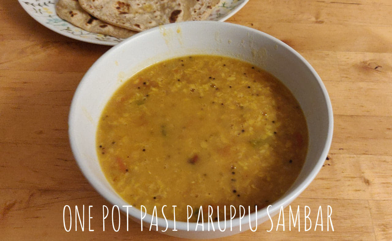 One Pot Tiffin Sambar | Moong Dal Sambar | Pasi paruppu sambar