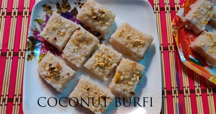 Coconut Burfi | Thengai burfi