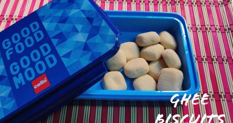 Ghee Biscuits in pressure cooker | Ghee cookies without oven | 3 Ingredient cookies