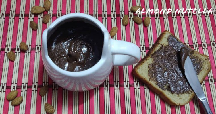Almond Nutella | Homemade Almond Nutella | How to make Almond Nutella