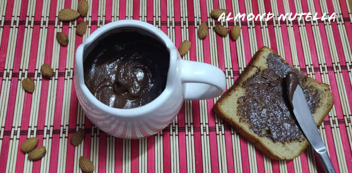 Almond Nutella   Homemade Almond Nutella   How to make Almond Nutella