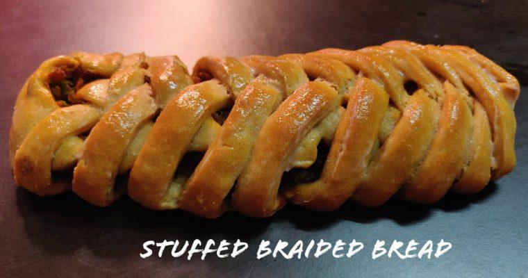 Stuffed Braided Bread | Whole Wheat Vegetable stuffed braided bread | Designer Bread | #BreadBakers