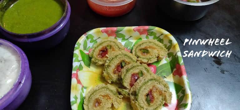 Pinwheel Sandwich | Veg Pinwheel Sandwich
