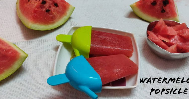 Watermelon Popsicle | Watermelon Lemon Popsicle | Watermelon Ice Pops