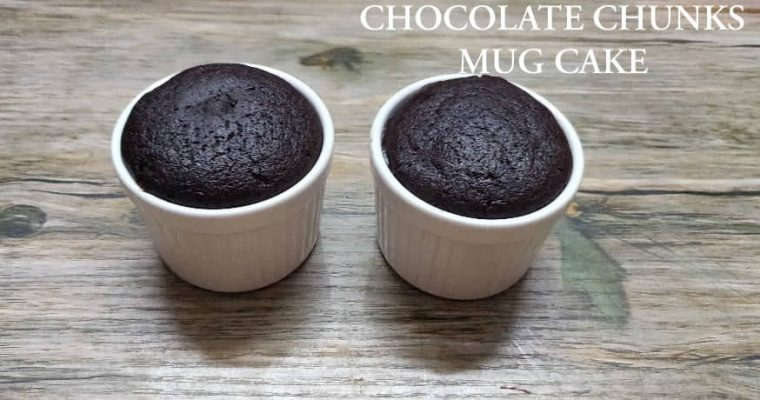 Chocolate chunks mug cake | Whole wheat Chocolate Chunks Mug Cake without oven