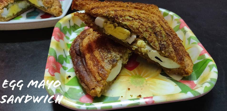 Egg Mayo Sandwich recipe | Egg Mayonnaise Toast Recipe | Egg mayo recipe