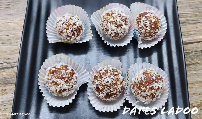 Dates Ladoo | Dates and nuts ladoo recipe | Dates Laddu