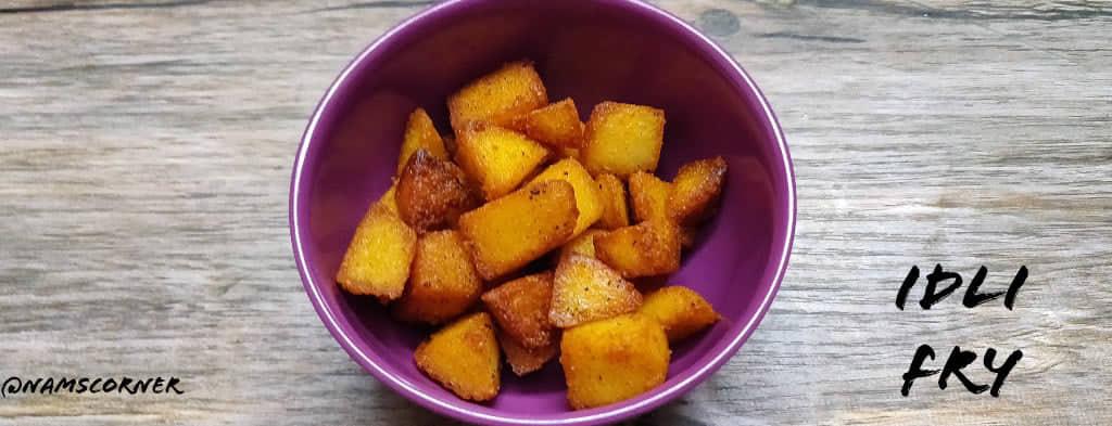 Idli Fry recipe | How to make Idli Fry recipe | Leftover Idli recipes