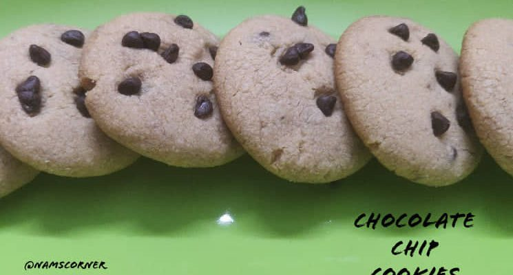 Chocolate Chip Cookies Recipe | Whole Wheat Chocolate Chip Cookies Recipe | Choco chips cookies