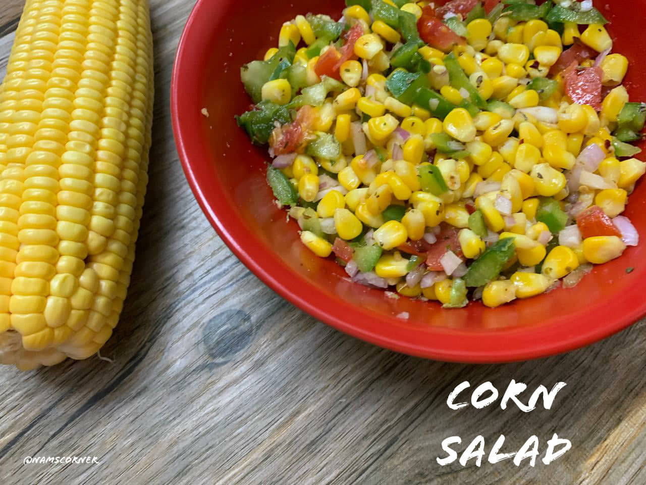 Corn Salad Recipe | Corn Salad with Italian Dressing | Sweet Corn Salad