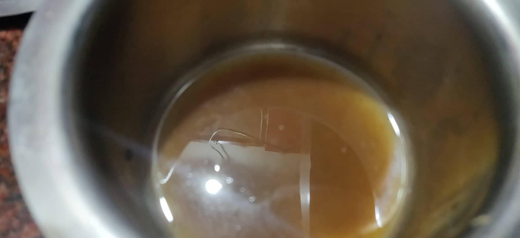 Vankaya_pachi_pulusu - Prepare tamarind extract in bowl