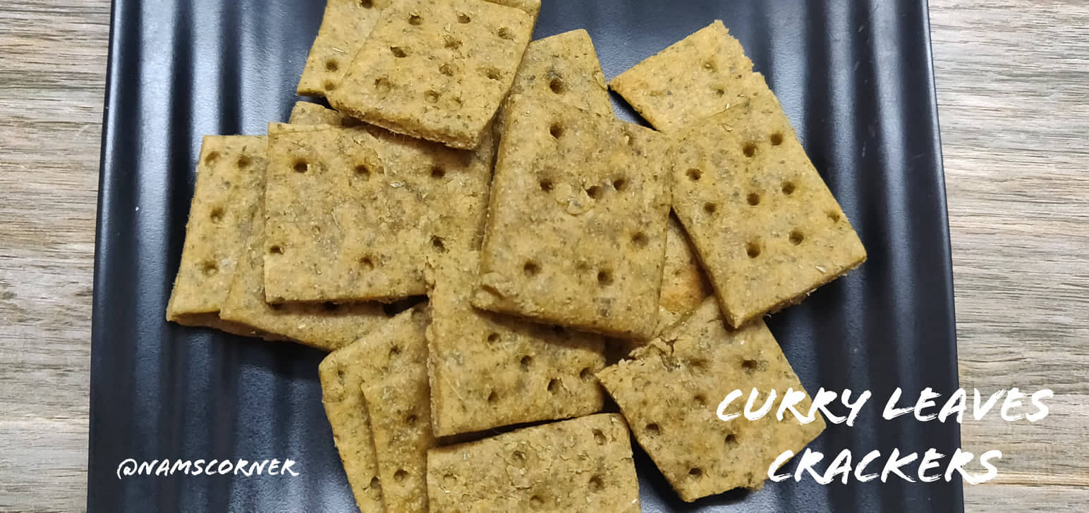 Curry leaves Crackers   Healthy Curry leaves Crackers without oven