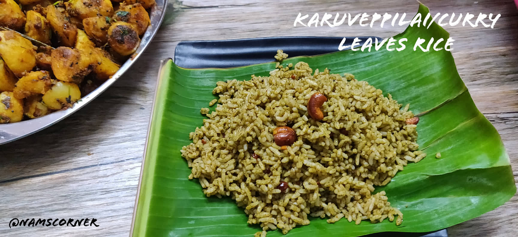 Karuveppilai Sadam Recipe | Curry leaves rice recipe