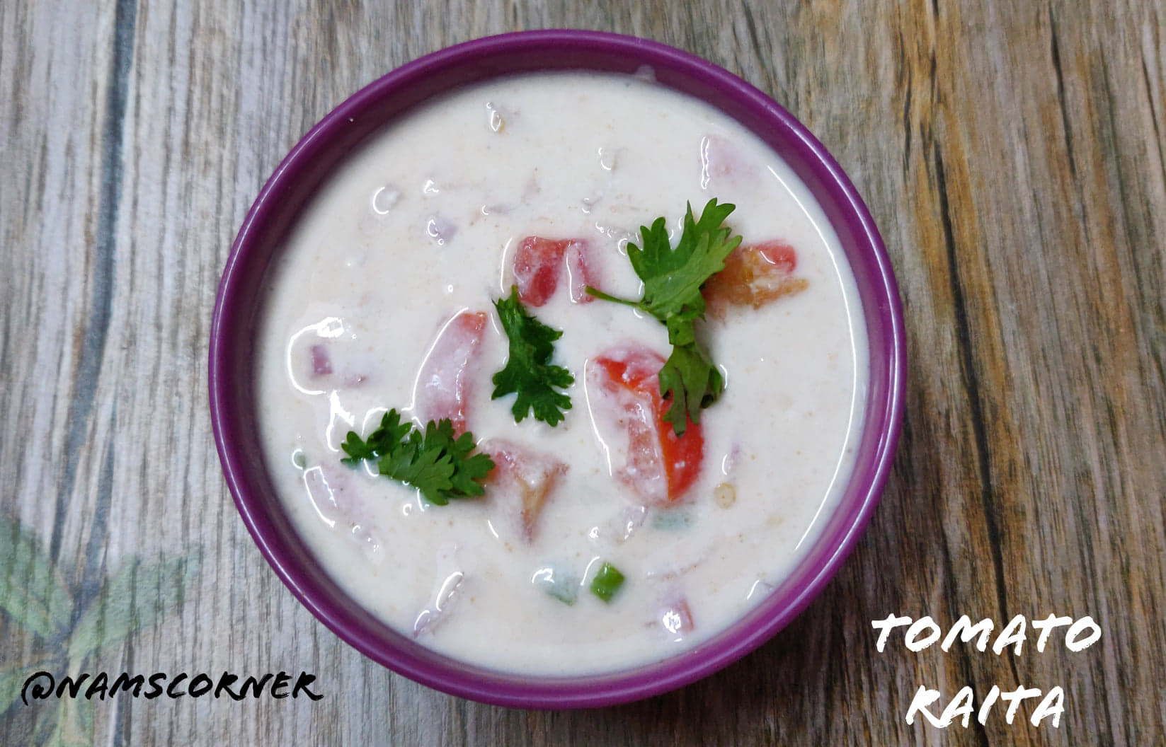 Tomato Raita Recipe | How to make Tomato Raita | Thakkali Thayir Pachadi