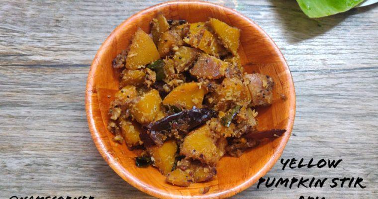 Yellow Pumpkin stir fry Recipe | Parangikai Poriyal