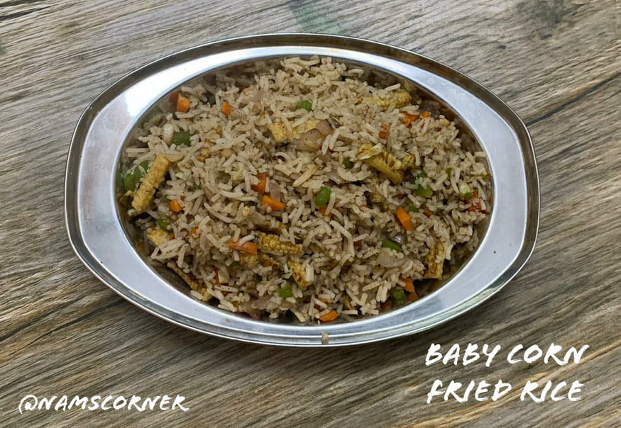 Baby Corn Fried Rice Recipe | How to make Baby Corn Fried Rice