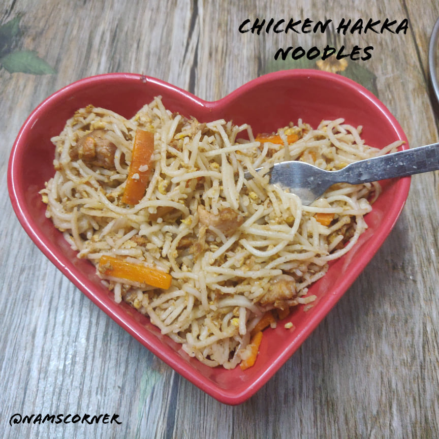 Chicken Hakka Noodles Recipe | Indo Chinese Chicken Hakka Noodles Recipe