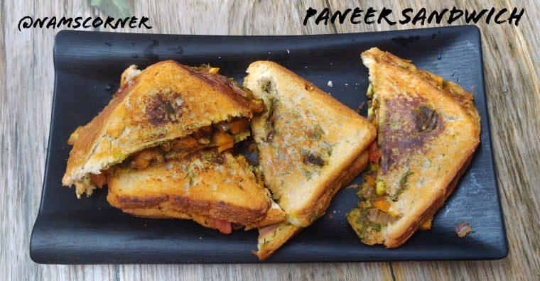 Paneer Sandwich Recipe | How to make Paneer Sandwich