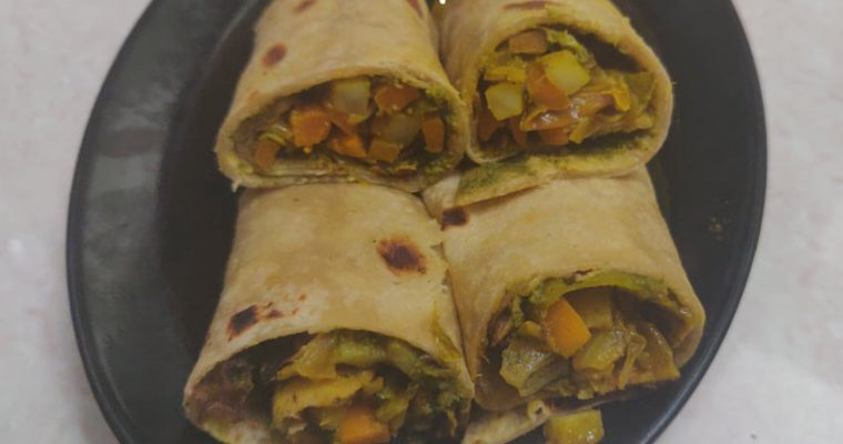 Veg kathi roll Recipe | Vegetable wraps Recipe | Veg Frankie Recipe