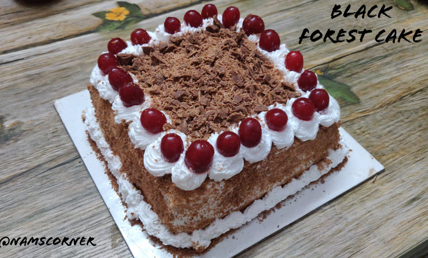Black Forest Cake Recipe | Black Forest gateau | Whole Wheat Black Forest Cake