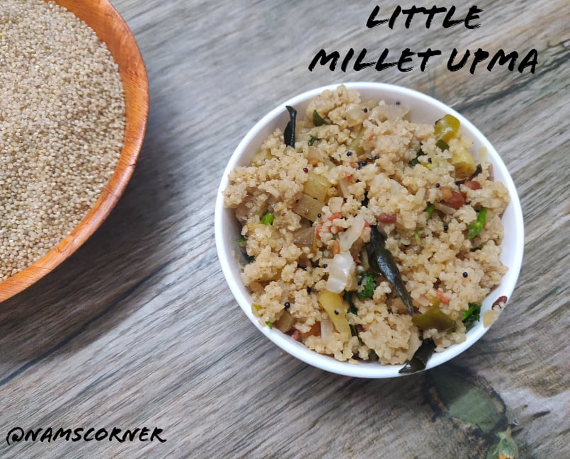 Little Millet Upma Recipe | Samai Upma