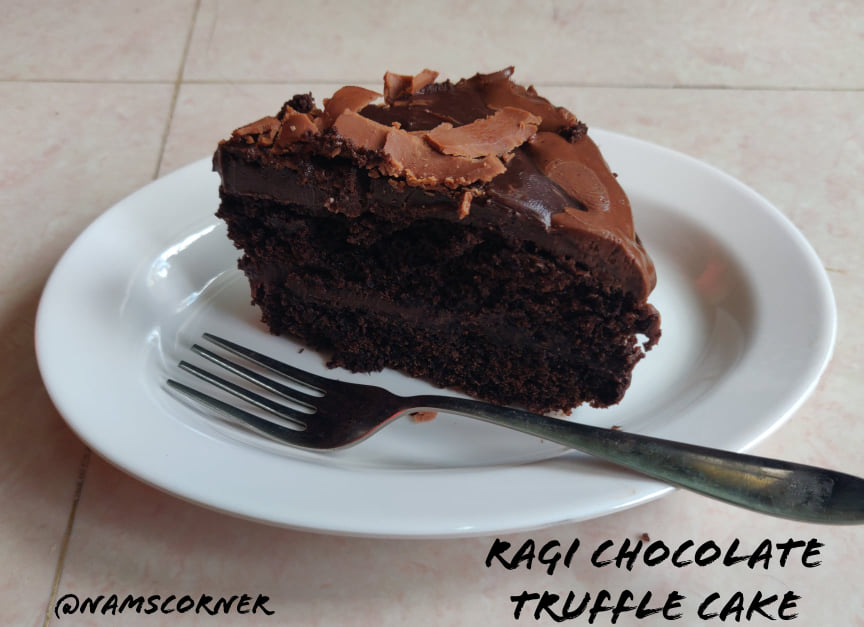 Ragi Chocolate Truffle Cake Recipe | Ragi Choco Truffle Cake without oven