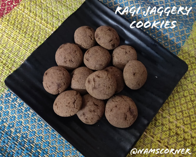 Ragi Jaggery Cookies Recipe | Ragi Cookies | Finger Millet Cookies
