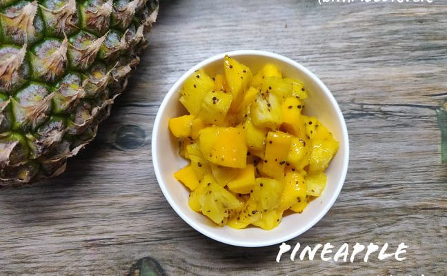 Pineapple Mango Salad Recipe | Fresh Pineapple mango salad