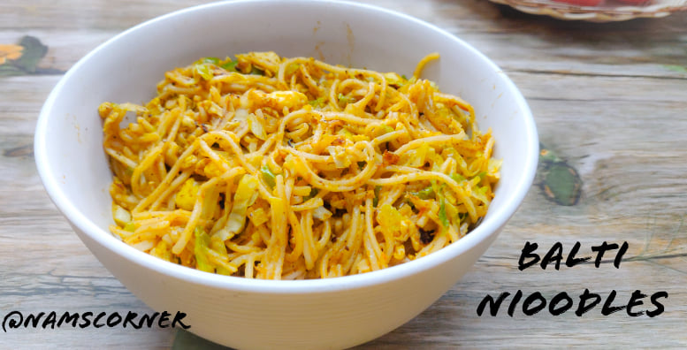 Balti Noodles Recipe | Noodles in Balti Sauce