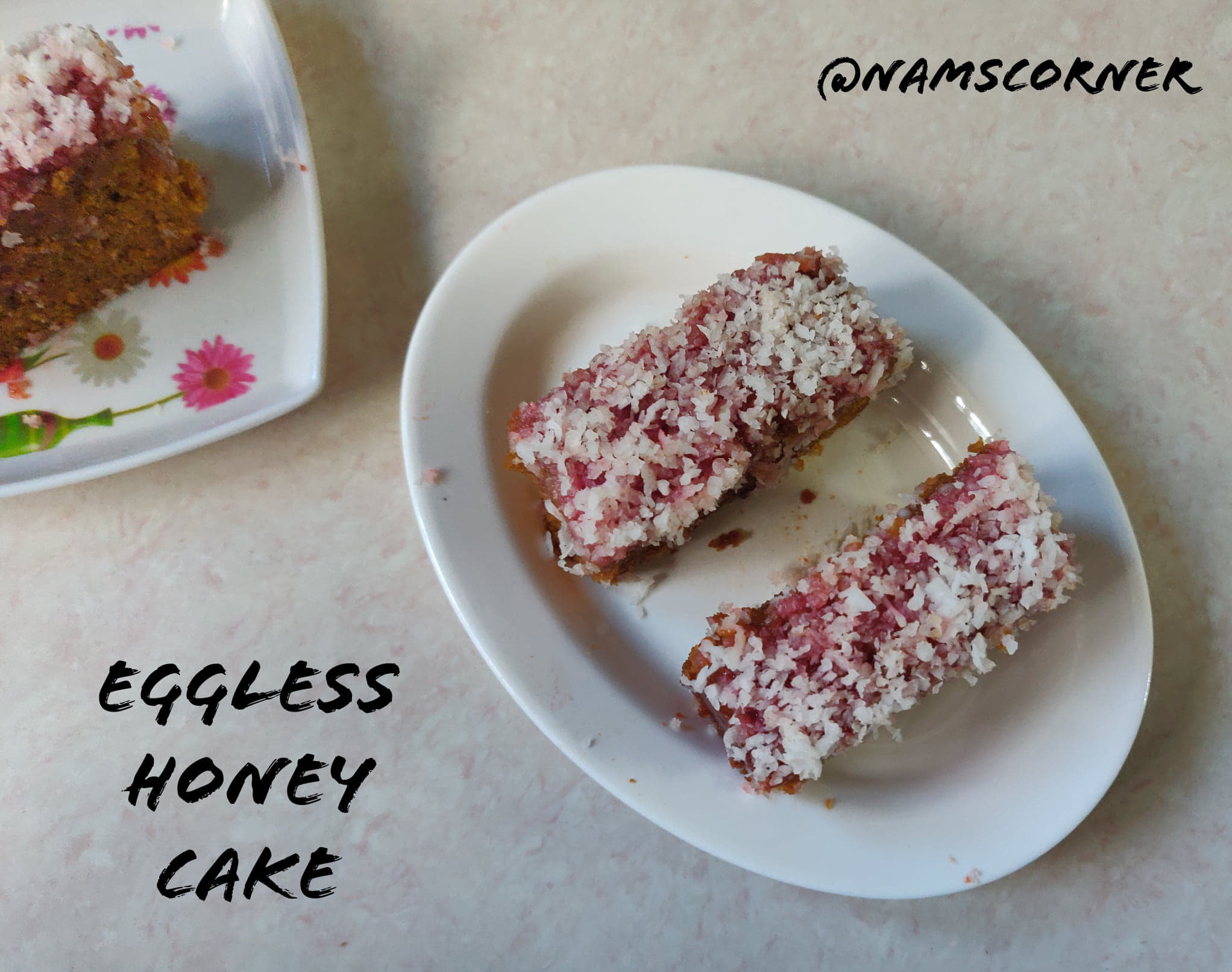 Eggless Honey Cake Recipe | Indian Bakery Style Honey Cake | Whole Wheat Honey Cake