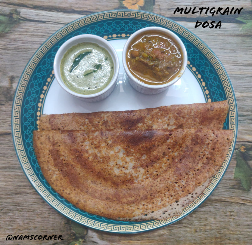 Multigrain Dosa Recipe | Healthy Dosa with different grains and pulses