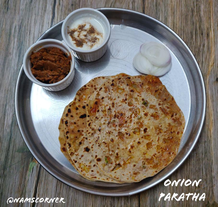 Onion Paratha Recipe | Pyaaz Ka Paratha | Spicy Stuffed Onion Paratha
