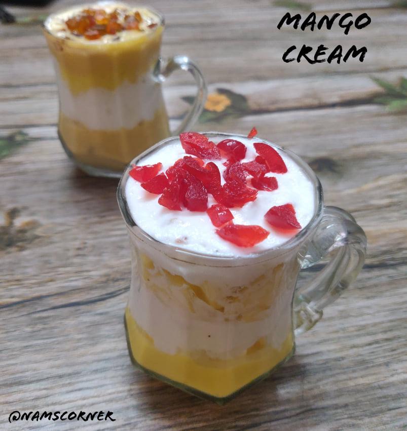 Mango Cream Recipe | Mango with whipped cream