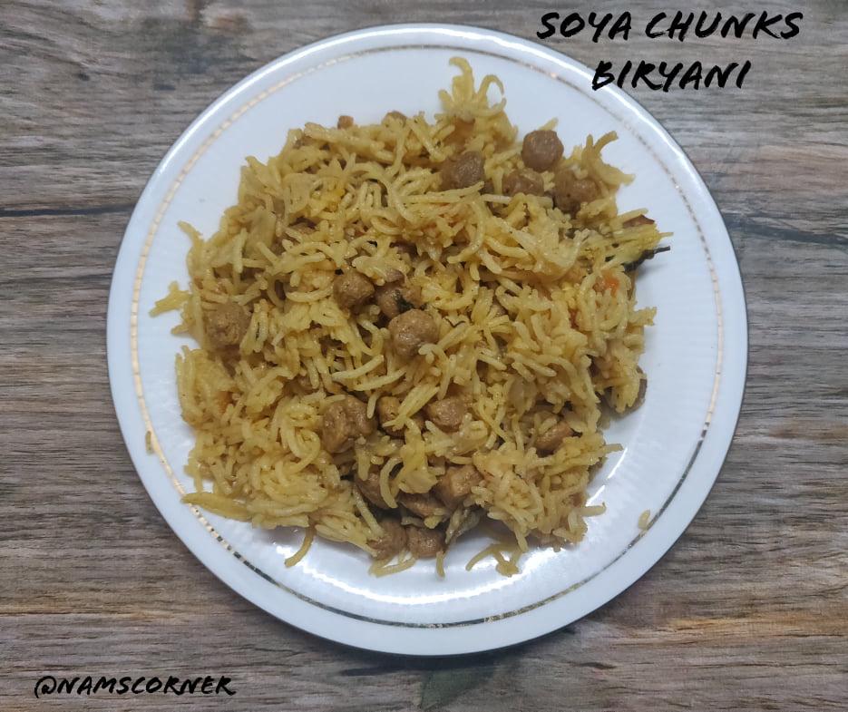 Soya Chunks Biryani Recipe | Meal Maker Biryani | Soya Biryani