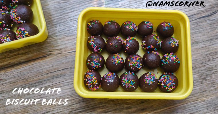 Chocolate Biscuit Balls Recipe | Biscuit Balls with nuts