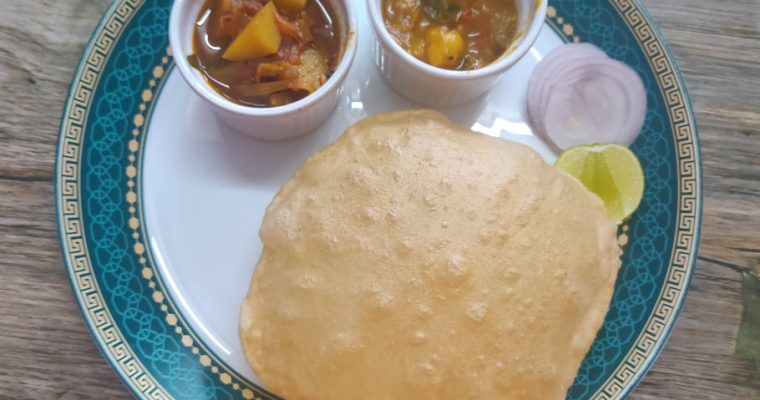 Chola Poori Recipe | Chola Puri Recipe | South Indian Bhature recipe