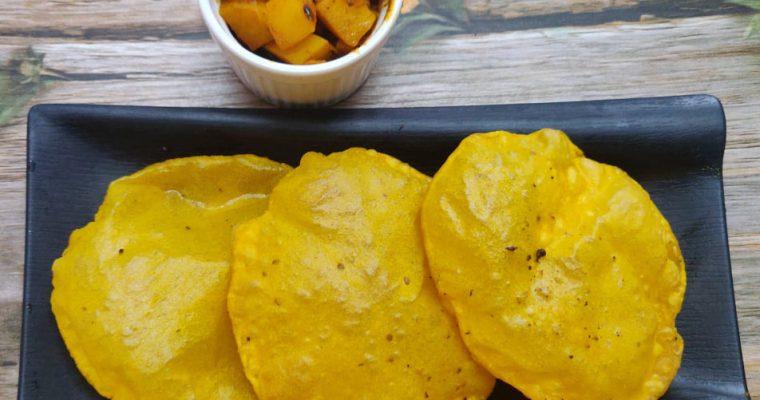 Pumpkin Poori Recipe | Yellow Pumpkin Poori | Parangikai Poori