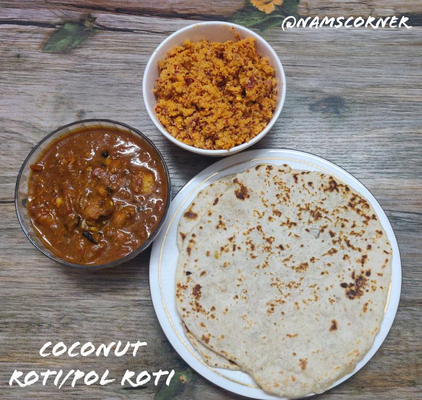 Coconut roti Recipe | Srilankan Pol Roti
