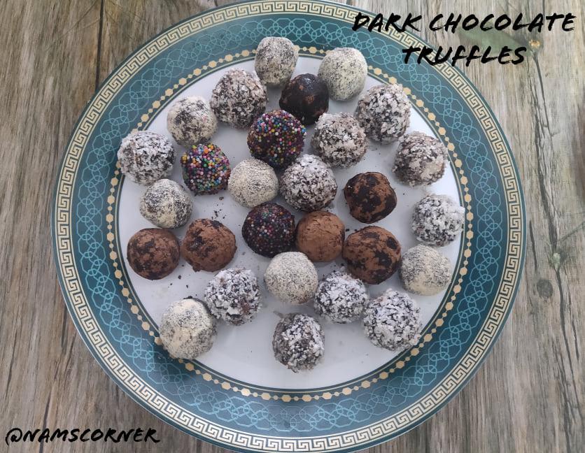 Dark Chocolate Truffles Recipe | Easy Chocolate Truffle