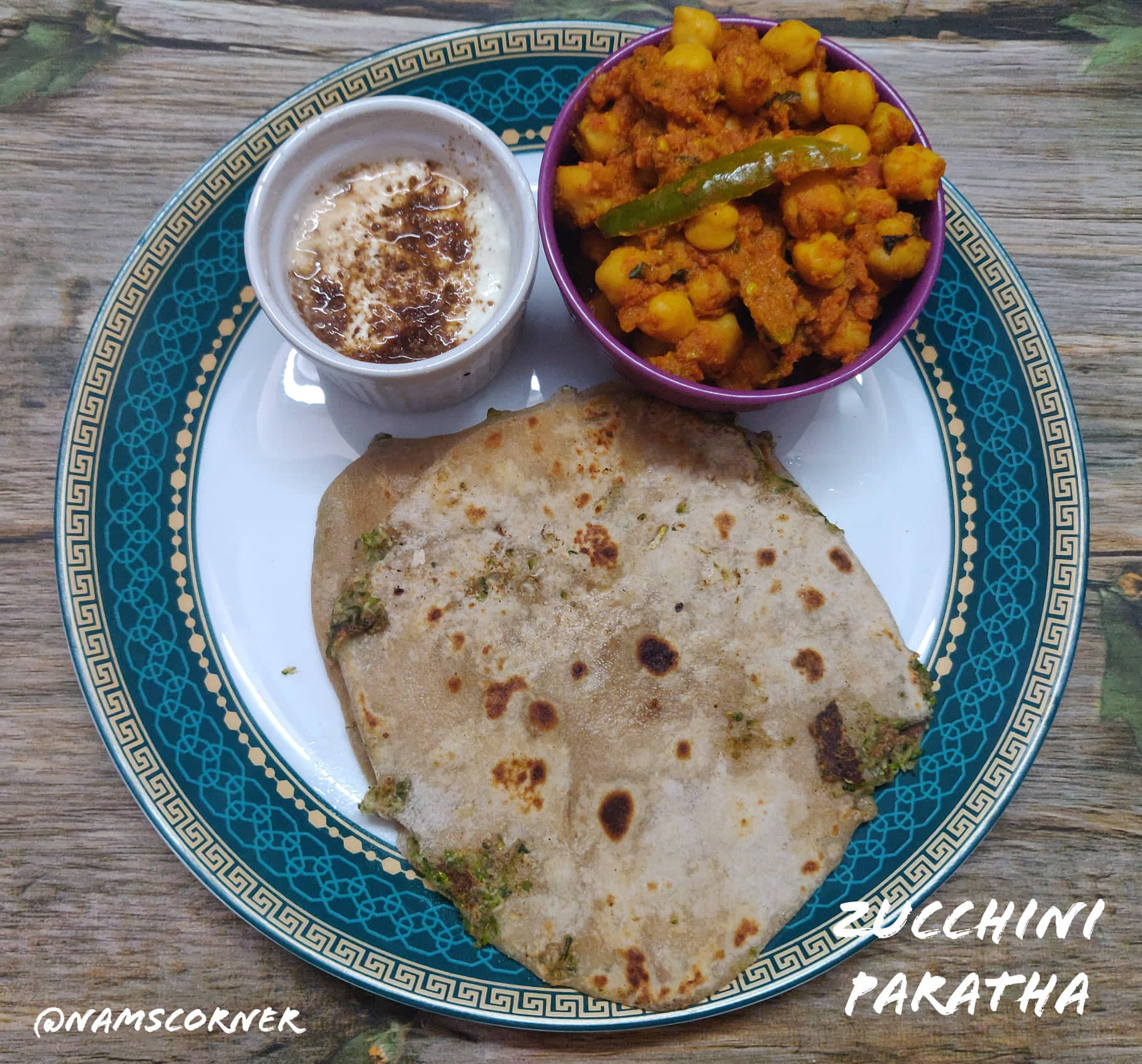 Zucchini Paratha Recipe | Stuffed Zucchini Paratha