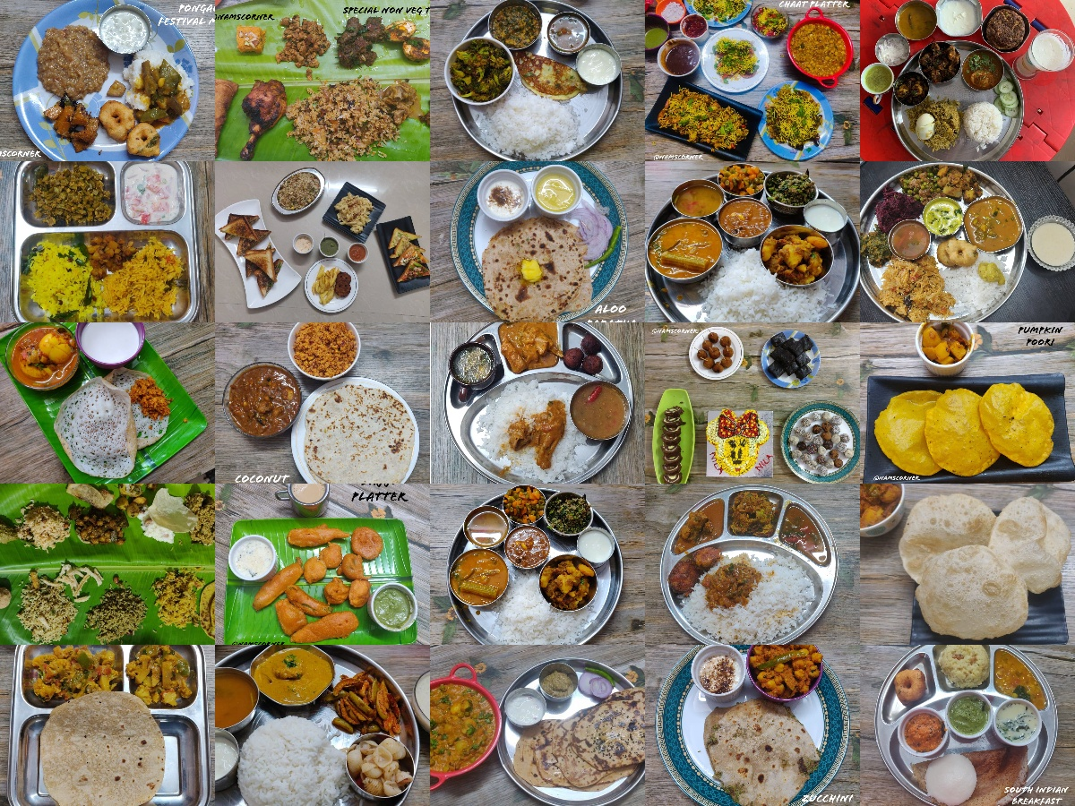 Indian Thalis and Platters | 26 different types of thalis and platters.