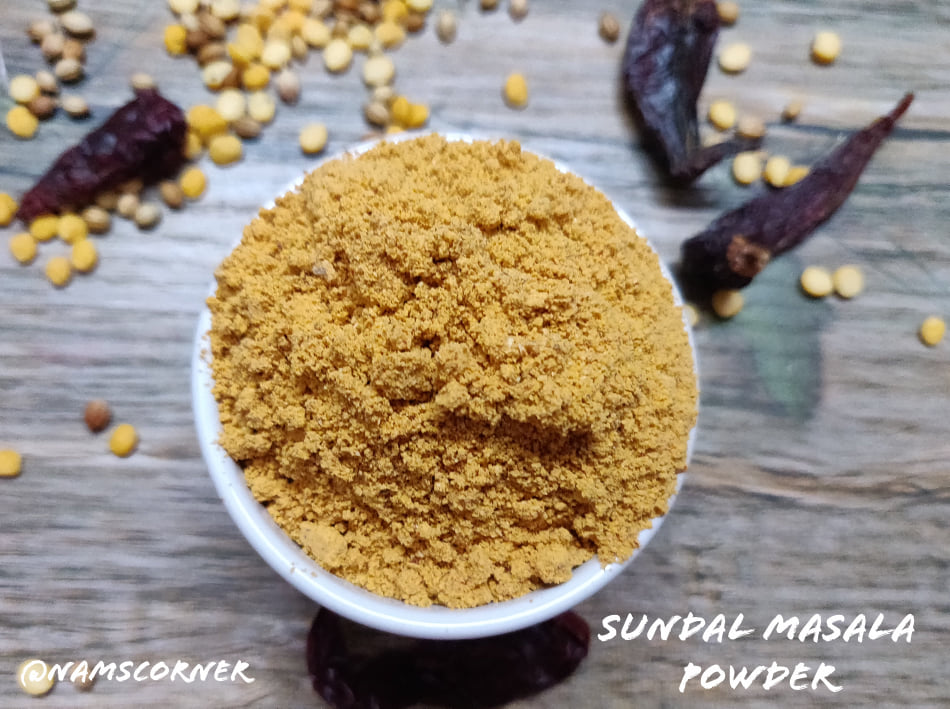 Sundal Masala Powder Recipe | Sundal Podi Recipe