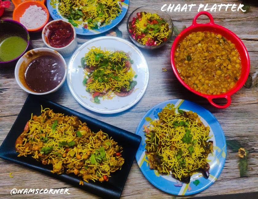 Chaat platter | Chaat Party Recipes
